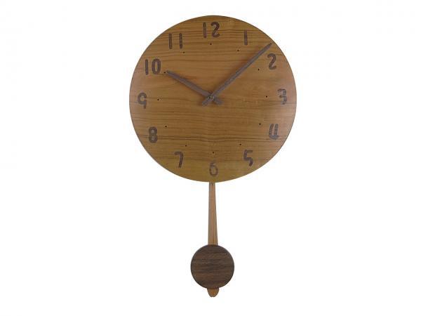 木の振り子時計 直径33cm Wa33AUF-02