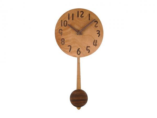 木の振り子時計 直径23cm Wa23AUF-01