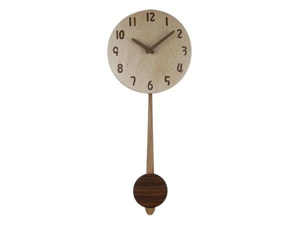 木の振り子時計 直径21cm Wa21AUF-02