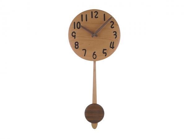 木の振り子時計 直径22cm Wa22ADF-01