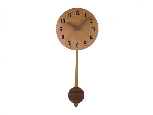 木の振り子時計 直径22cm Wa22ADF-02