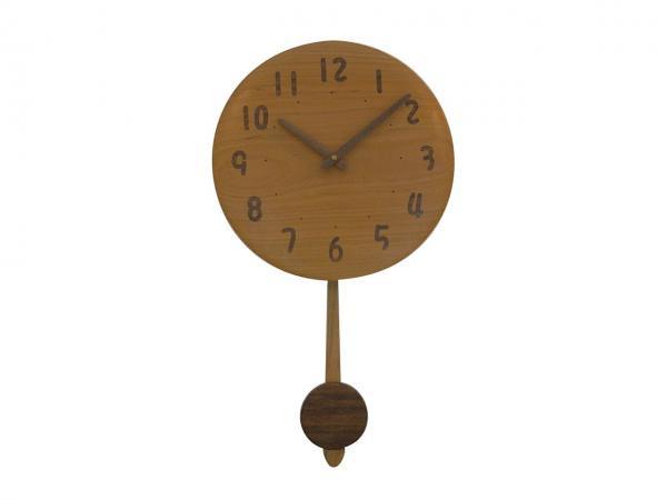 木の振り子時計 直径30cm Wa30AUF-05d