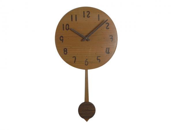 木の振り子時計 直径30cm Wa30AUF-06