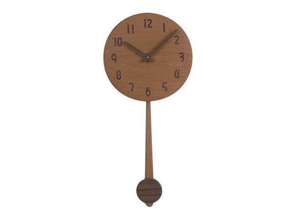 木の振り子時計 直径22cm Wa22AUF-05