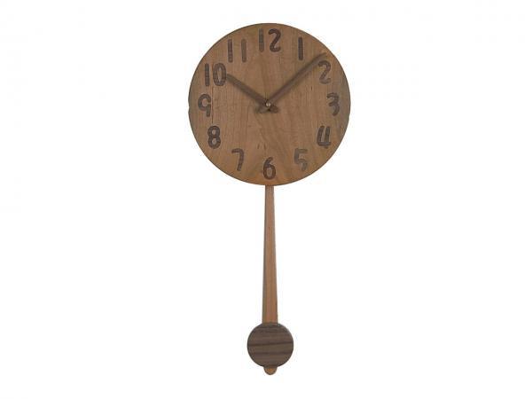 木の振り子時計 直径22cm Wa22AUF-04