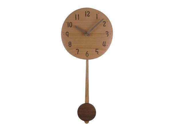 木の振り子時計 直径24cm Wa24AUF-03