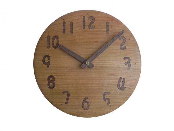 木の時計 直径19cm Wa19AU-04