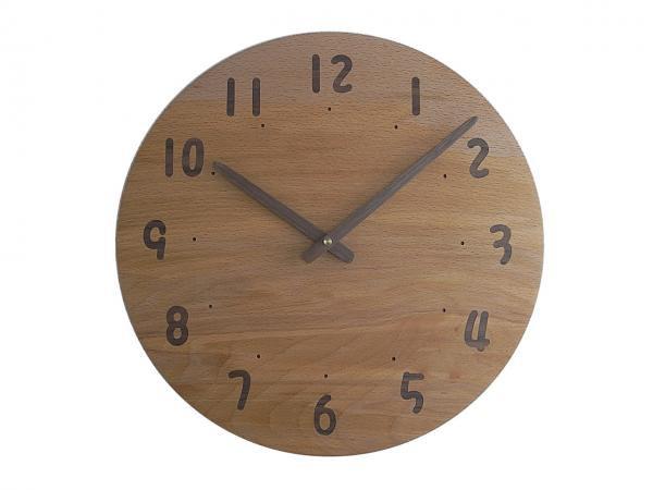 木の時計 直径34cm Wa34AU-18