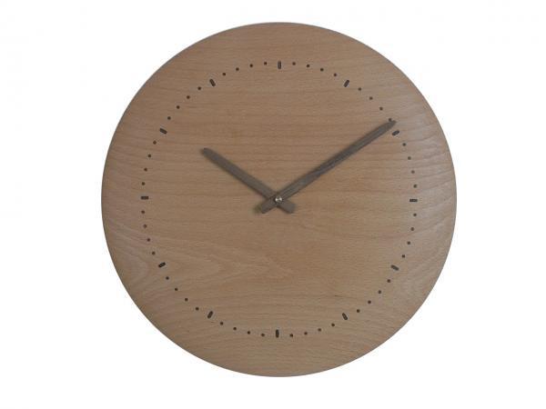 木の時計 直径34cm Wa34N-01