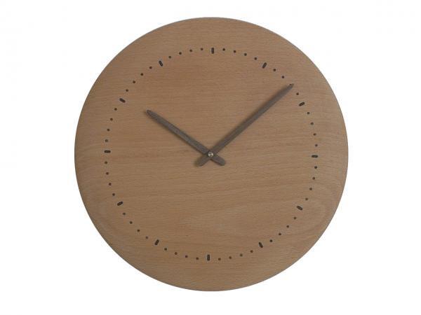 木の時計 直径34cm Wa34N-02