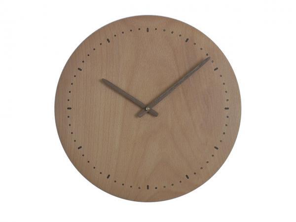 木の時計 直径33cm Wa33N-01