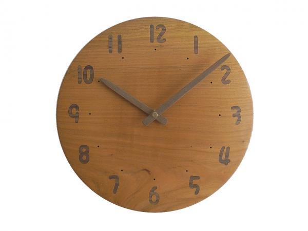 木の時計 直径24cm Wa24AU-23