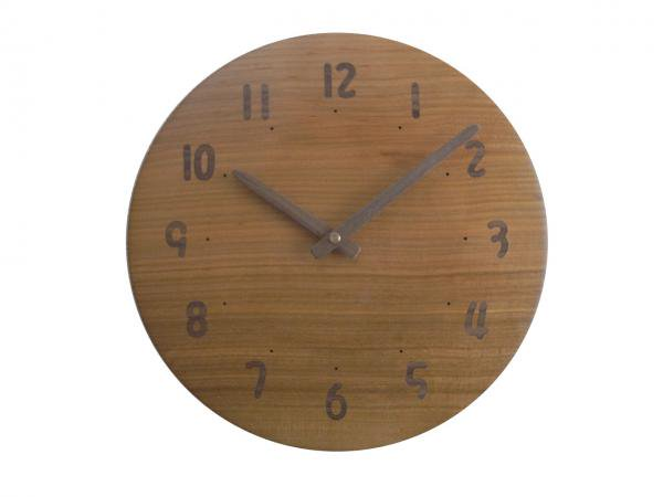 木の時計 直径26cm Wa26AU-09