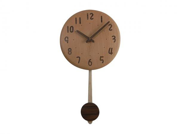 木の振り子時計 直径28cm Wa28AUF-03