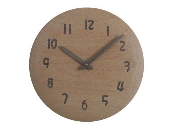 木の時計 直径26cm Wa26AU-10