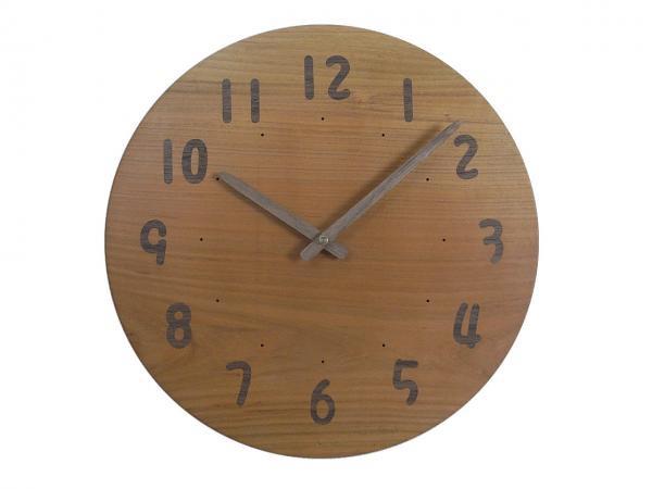 木の時計 直径31cm Wa31AU-08