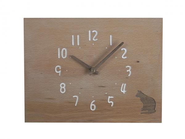 四角い掛け時計 幅24cm Wa24AB-21
