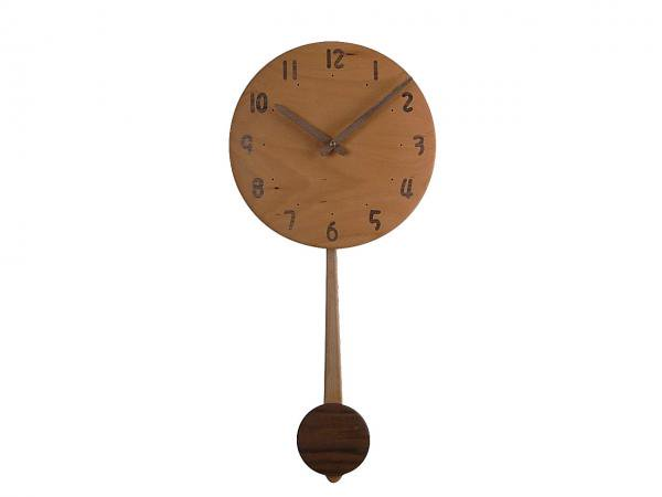 木の振り子時計 直径24cm Wa24AUF-05