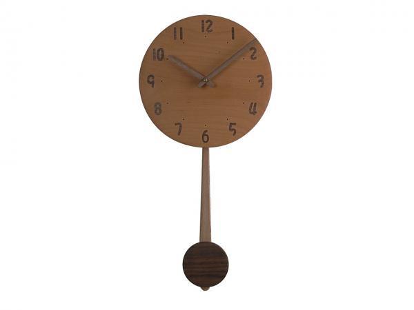 木の振り子時計 直径24cm Wa24AUF-06