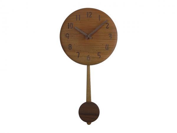 木の振り子時計 直径23cm Wa23AUF-02