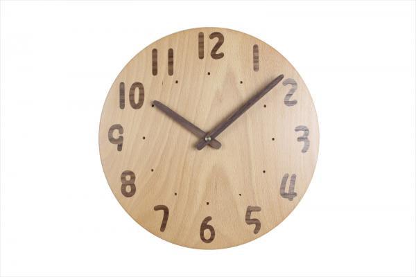 木の時計 直径26cm Wa26AU-12