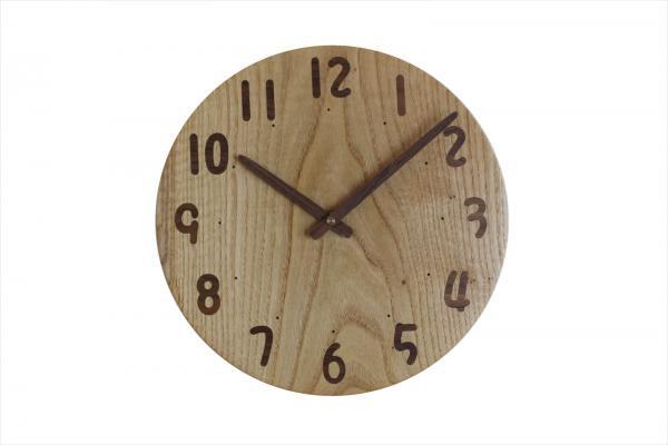木の時計 直径27cm Wa27AU-33
