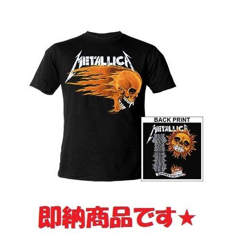 【即納】METALLICA Flaming Skull, Tシャツ
