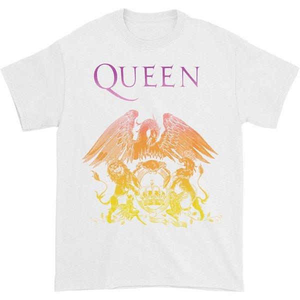 QUEEN Crest White, Tシャツ