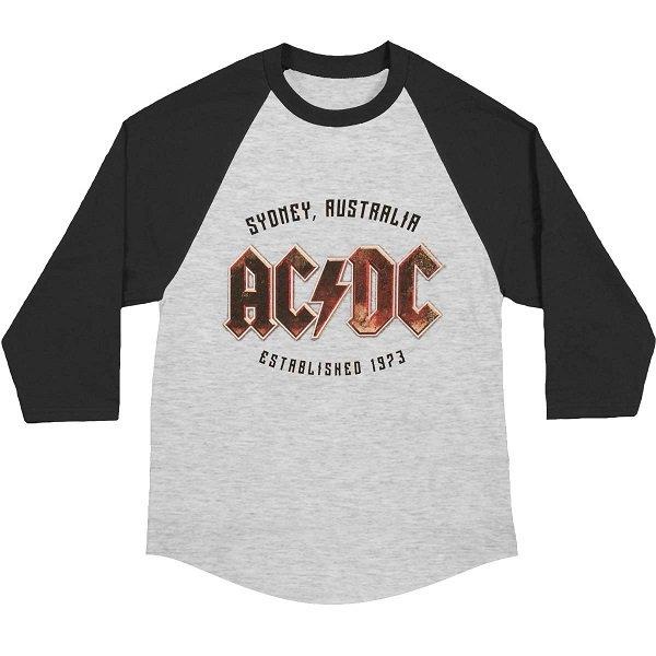 【即納】AC/DC Est 1973 Sydney Baseball Jersey, ロングTシャツ