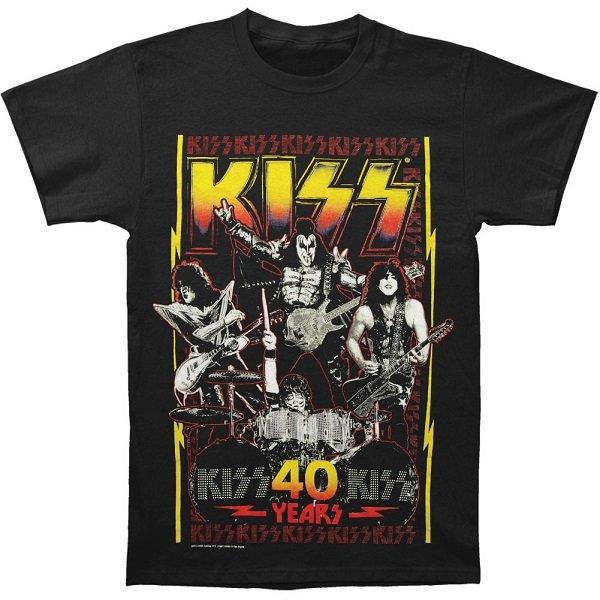 【即納】KISS Lightning Bolt 40 Years, Tシャツ