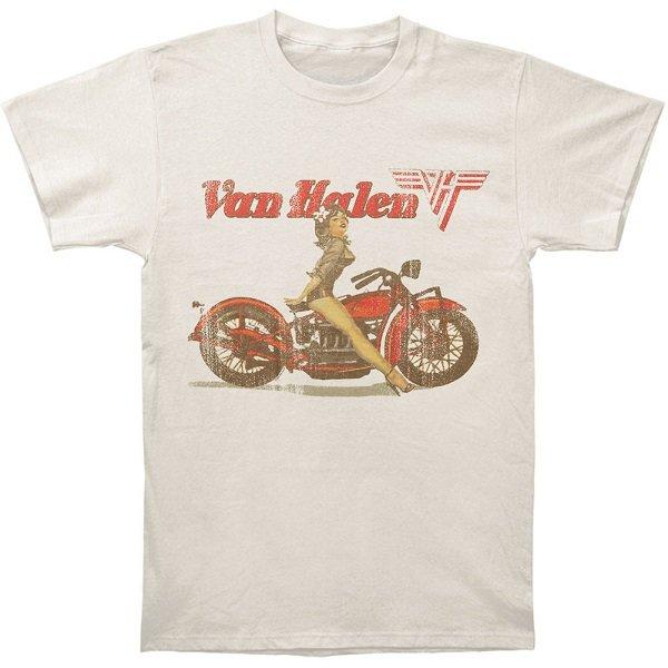 【即納】VAN HALEN Biker Pin Up, Tシャツ