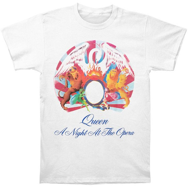 QUEEN Night At The Opera Wht, Tシャツ