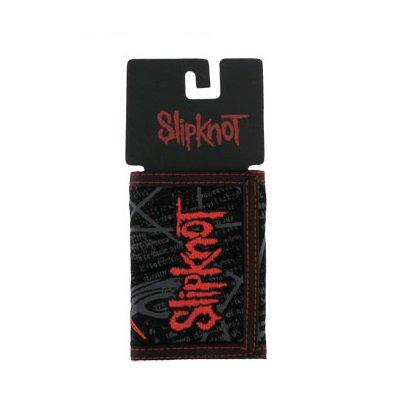 slipknot embroidered logo red バンドグッズ 財布 バンドTシャツ