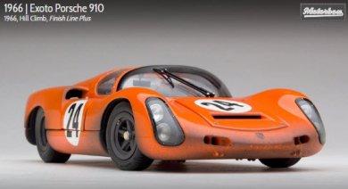 エグゾト MTB00063CFLP 1/18 ポルシェ 910 ヒルクライム Exoto Porsche 910 1966 Hill Climb #24 フィニッシュライン