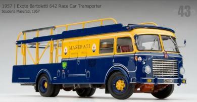 エグゾト 1/43 マセラティ 1957 Exoto Bartoletti 642 Race Car Transporter トランスポーター
