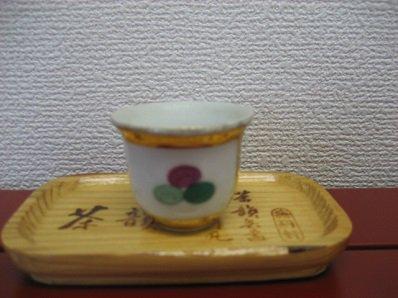 茶杯 ノスタルジックな柄の茶杯です。