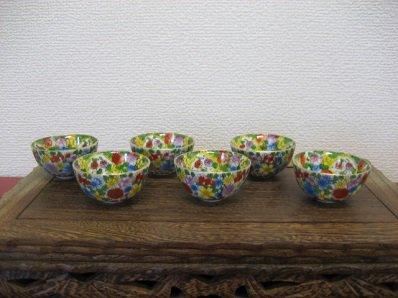茶杯 6個セット ノスタルジックな干支柄の茶杯です。