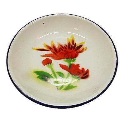 皿 赤い花