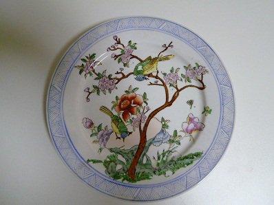 花と鳥の皿