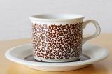 ARABIA アラビア faenza ファエンツァ コーヒーカップ&ソーサー(ブラウン)【104258680】