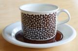 ARABIA アラビア faenza ファエンツァ コーヒーカップ&ソーサー(ブラウン)【104258695】