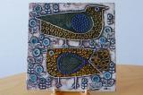 GUSTAVSBERG(グスタフスベリ)Lisa Larson(リサ・ラーソン)陶板画 UNIK 二羽の鳥 FAGLAR