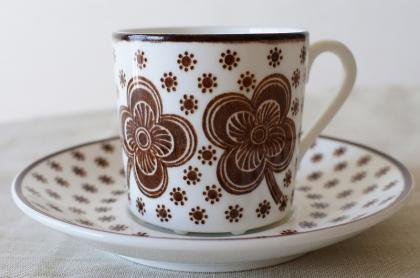 GUSTAVSBERG グスタフスベリ Flower コーヒーカップ&ソーサー【106031996】