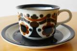 ARABIA アラビア Riikka コーヒーカップ&ソーサー(ブラウン)