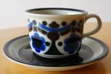 ARABIA アラビア Riikka コーヒーカップ&ソーサー(ブルー)
