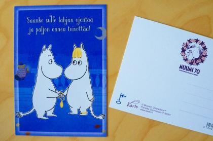 ムーミン Moomin ポストカードKarto(フィンランド)
