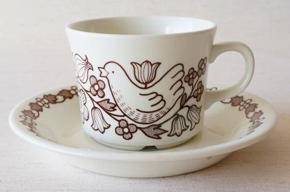 ARABIA アラビア FINNISH FLINT フィニッシュフリント Sirkku シルック コーヒーカップ&ソーサー【11238688…