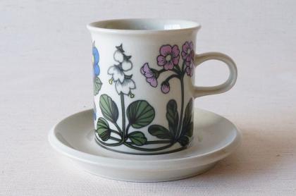 ARABIA アラビア Flora フローラ コーヒーカップ&ソーサー【112700046】