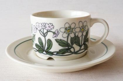 ARABIA アラビア Flora フローラ コーヒーカップ&ソーサー【113062552】