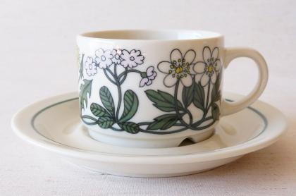 ARABIA アラビア Flora フローラ コーヒーカップ&ソーサー【113315346】